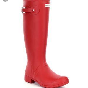 HUNTER red rainboots